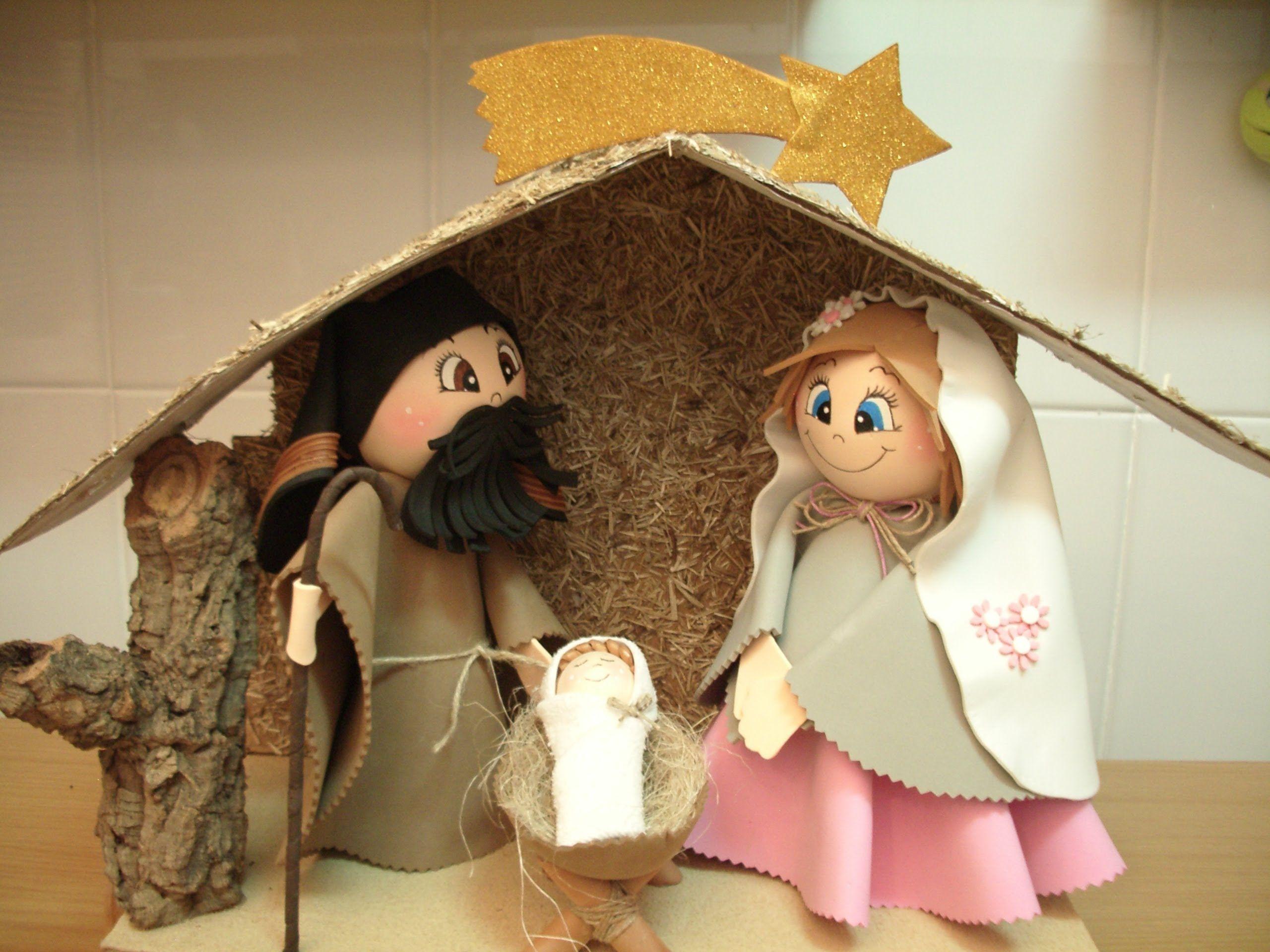 Fotos Del Nacimiento De Navidad.Como Hacer Un Belen O Nacimiento De Navidad En Goma Eva