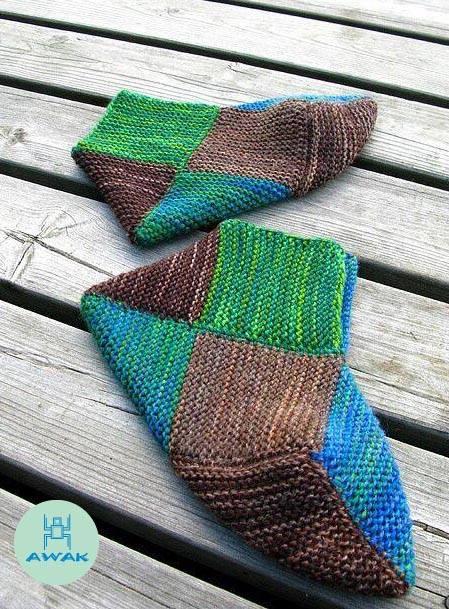 patron Zapatillas a crochet cuadrados