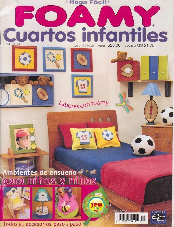 Habitaciones infantiles con foamy patrones gratis for Habitaciones infantiles