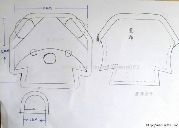 patrón monedero de tela