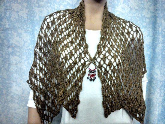 Bufanda chalina en crochet - Patrones gratis