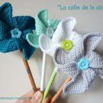 Molinillos de viento a crochet