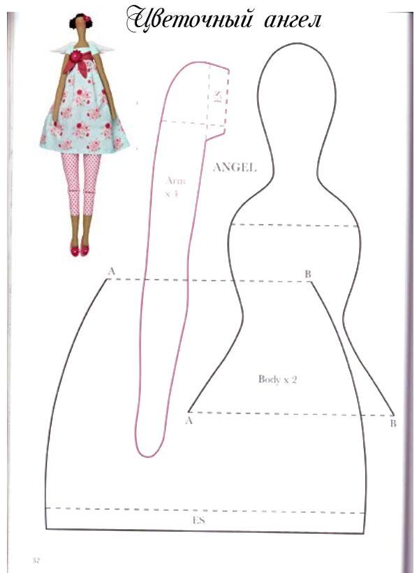 Como hacer una muñeca tilda, tutorial con el paso a paso - Patrones ...