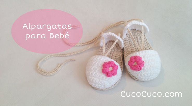 eac2d3fd0 Sandalias a crochet para bebé - Patrones gratis
