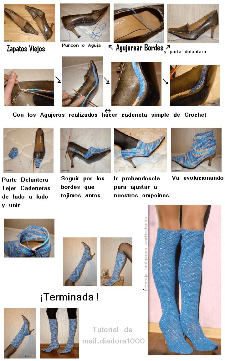 Lujoso Crochet Patrón Botines Vaquero Galería - Manta de Tejer ...