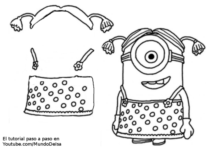 funda minion vestido de mujer 3