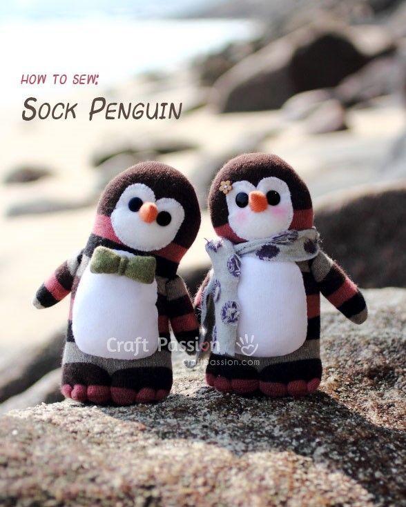 pinguino calcetin