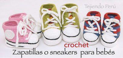 sneakers-o-zapatillas-para-bebés-tejidas-a-crochet