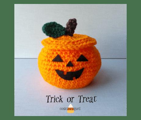 Calabaza Crochet para chuches Halloween