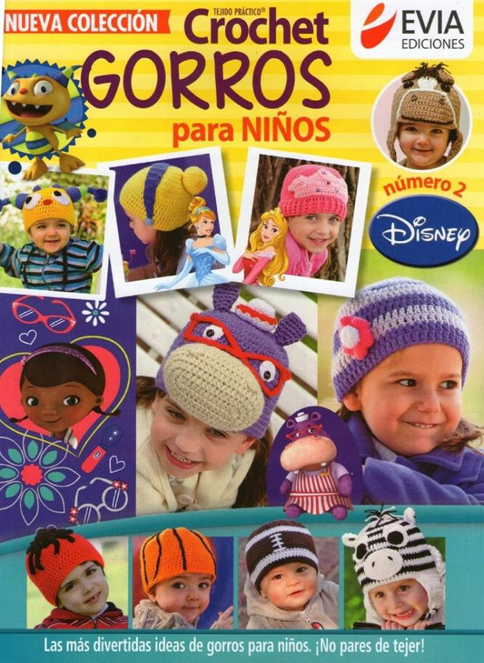 eea4f9247 Gorros Disney en crochet para niños - Patrones gratis