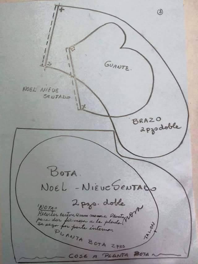patron muneco papa noel tela (1) - Patrones gratis