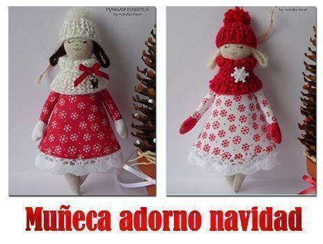 muñeca adorno navidad