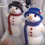 Muñeco de nieve en amigurumi