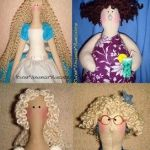 Pelo rizado para muñecas Tilda