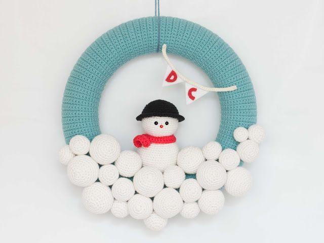 Amigurumi Navidad Nacimiento : Corona de navidad en amigurumi patrones gratis