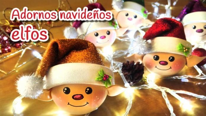 adornos navideños elfos