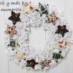 Corona de trapillo para Navidad