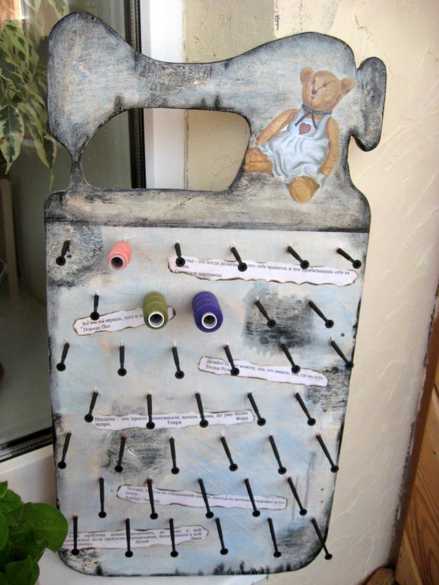 Organizador de hilos o bobinas - Patrones gratis