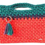 Bolsa para ordenador crochet con trapillo