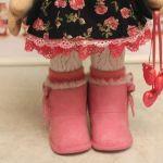 Botas muñecas tipo borreguito