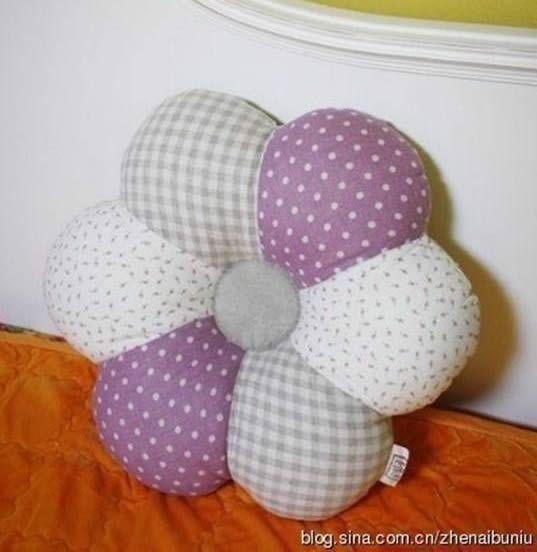 Cojin en forma de flor patrones gratis - Modelos de cojines decorativos ...