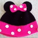 Gorro de Minnie Mouse en Crochet