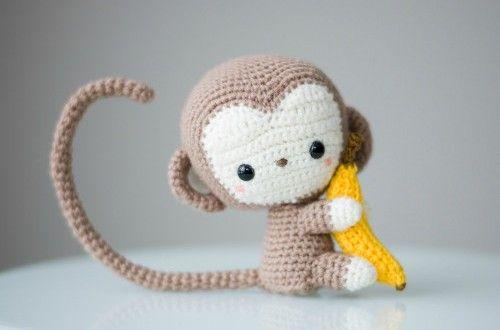 mono amigurumi