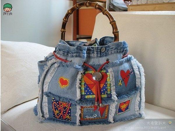 Resultado de imagen para Haz Un Bolso Con Jeans Reciclados