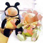 Muñecas tilda, Abeja y Flor