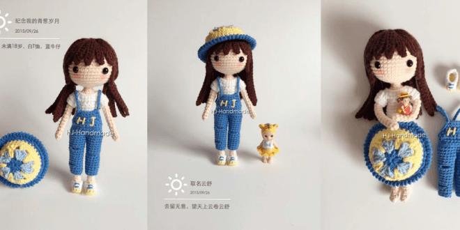 Muñeca en crochet - Patrones gratis