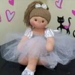 Como hacer una muñeca bailarina de tela