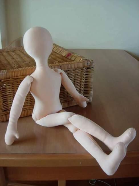 base de muñeca de tela