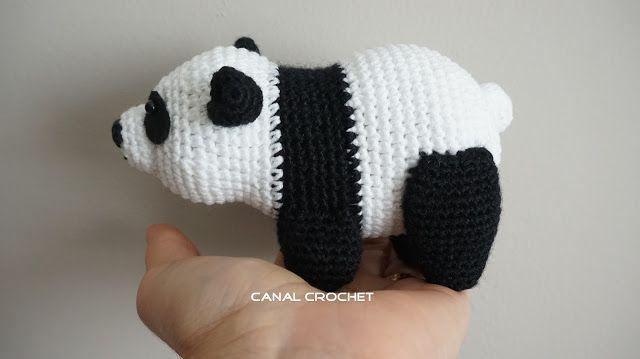 oso panda amigurumi