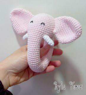Sonajero elefante en amigurumi DIY - PatronesMil