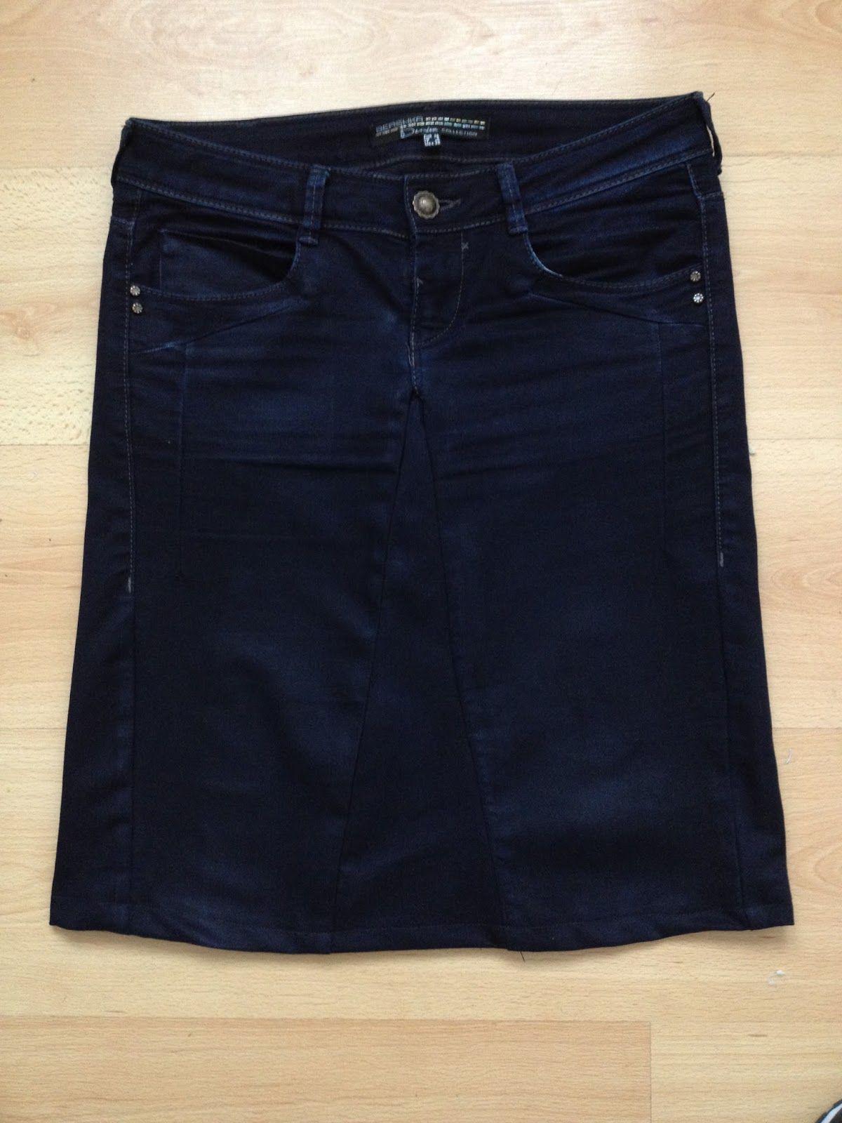 956e19efb Reciclar de pantalón vaquero a falda - Patrones gratis