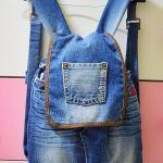 DIY como hacer una mochila reciclando vaqueros