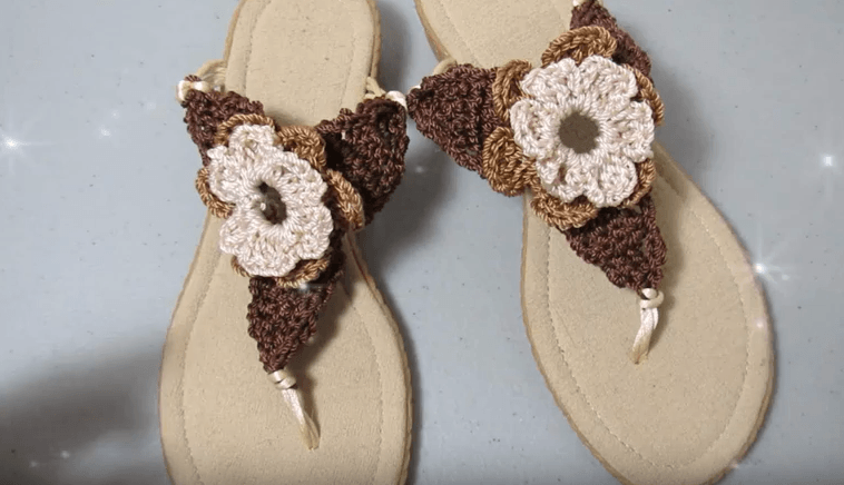 Sandalias a crochet para mujer - Patrones gratis