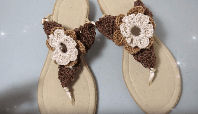 sandalias crochet de mujer