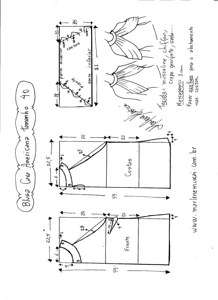 blusa de sisa americana con drapeado -40