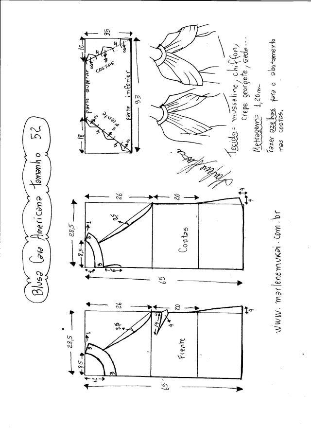 blusa de sisa americana con drapeado -52