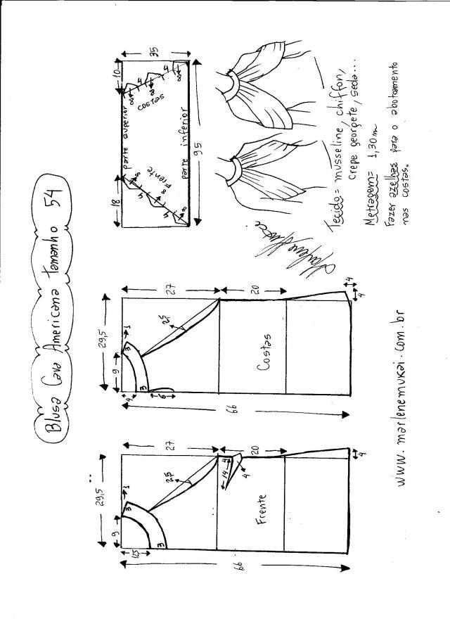 blusa de sisa americana con drapeado -54