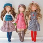 Muñecas de tela con patrones