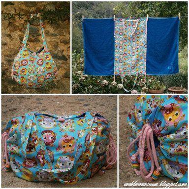 toalla bolsa de playa