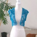 Bolero primavera verano tejido a crochet