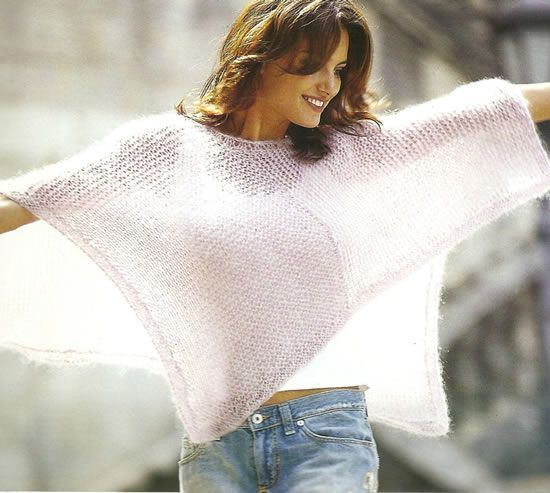 Poncho crochet facil