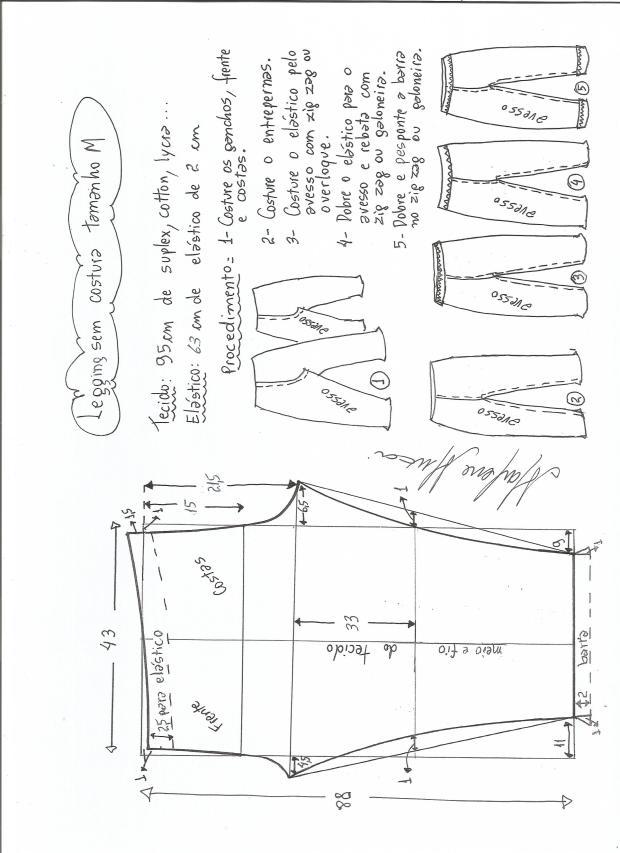 legging sin costural-M