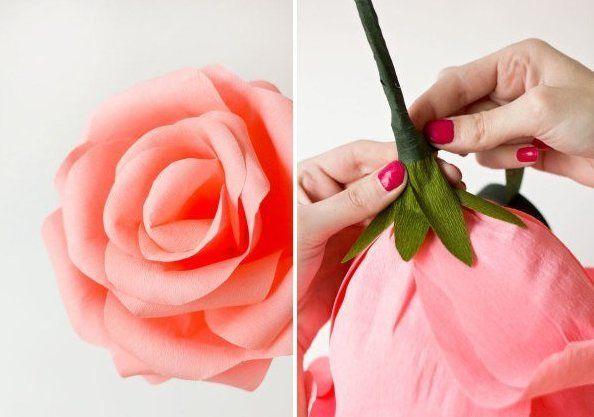 Como Hacer Rosas Gigantes Con Papel Crepé Patrones Gratis