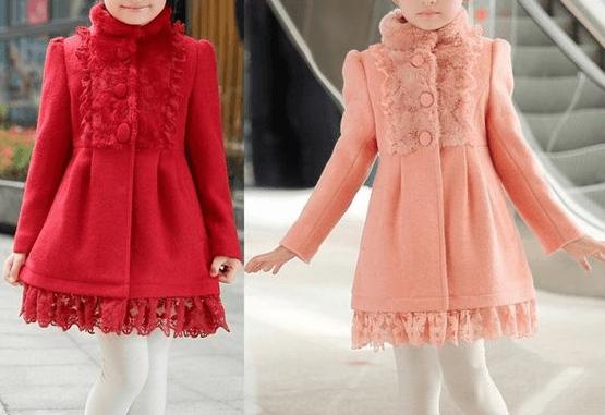 5ed2c58466f35 Patrón para hacer un lindo abrigo de otoño-invierno para niñas. Se puede  personalizar quitando o dejando los detalles de el volante o puntilla