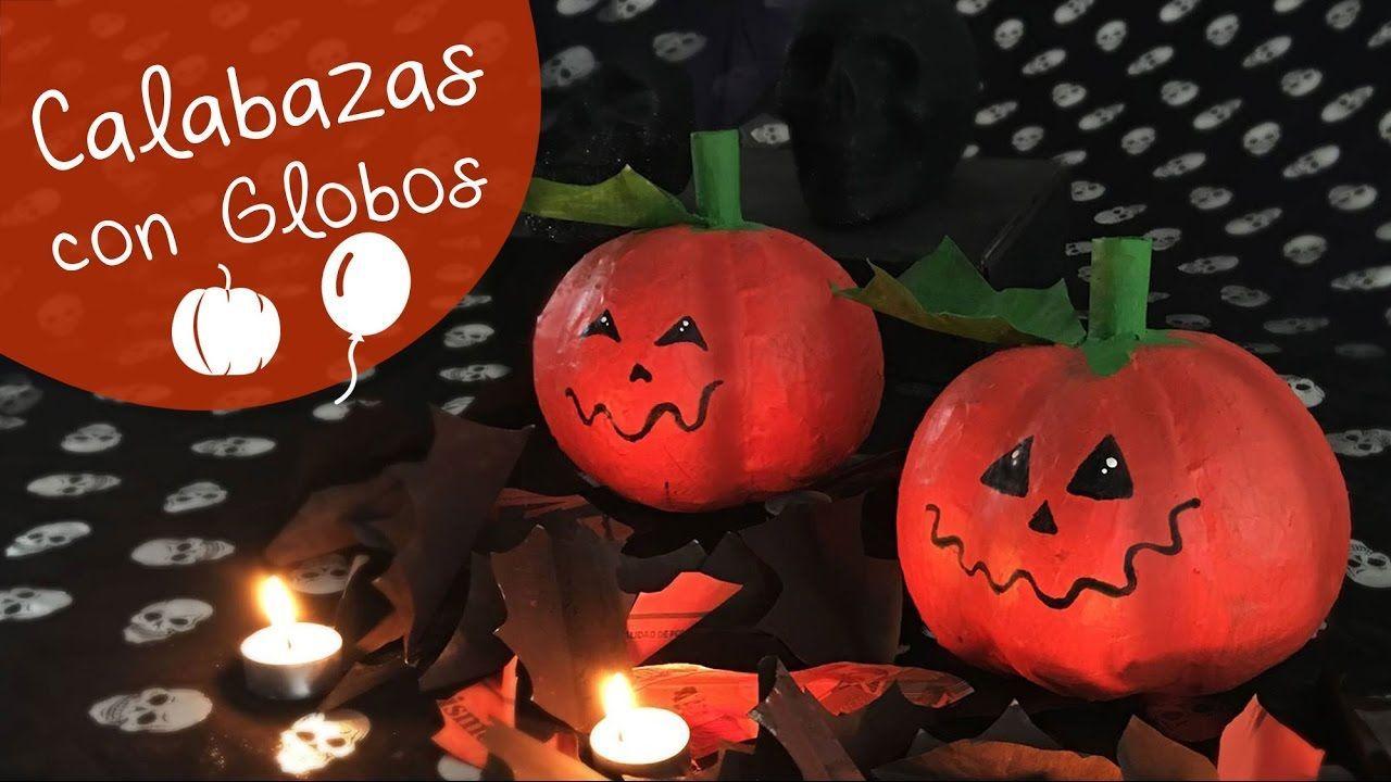 Diy como hacer calabazas con globos patrones gratis - Como hacer calabazas de halloween ...