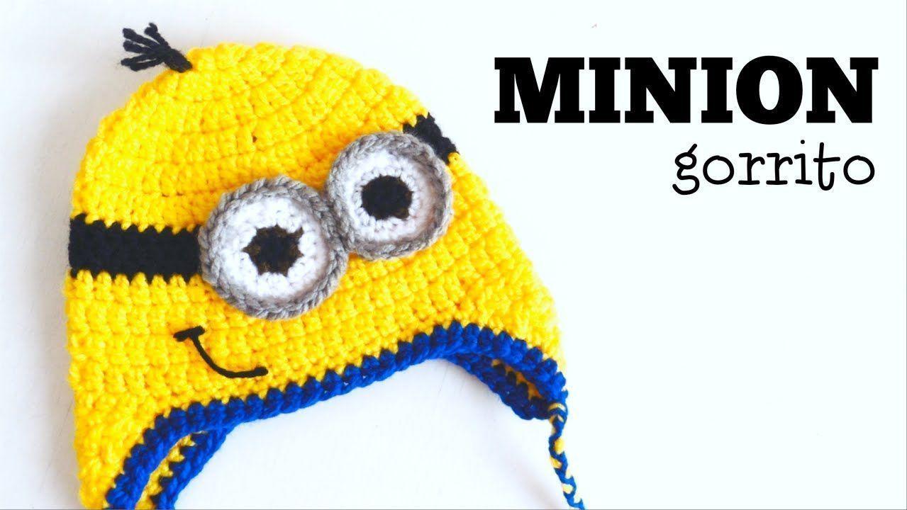 Tutorial de Gorro de Minion a Crochet - TODAS LAS TALLAS - Patrones ...